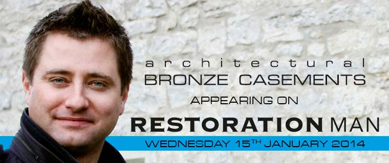 Architectural Bronze Casements appearing on Restoration Man