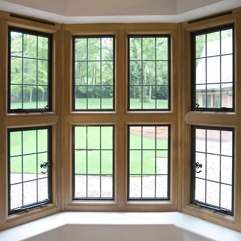 interior view of timber framed windows