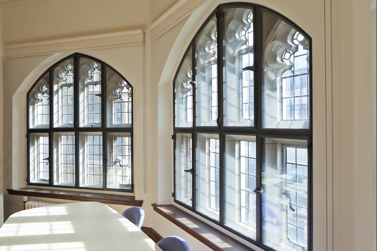 large windows with secondary glazing