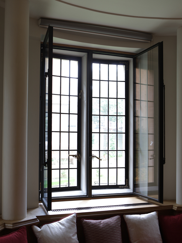 open view of secondary glazing