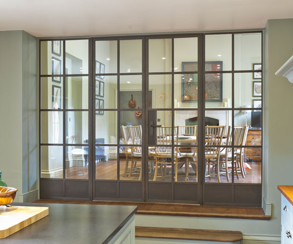 Modern internal metal screen