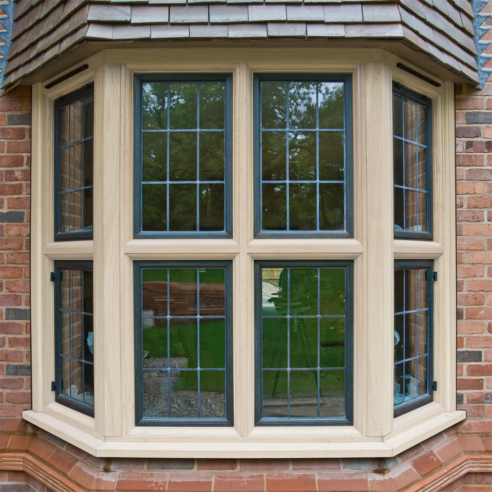 Bronze windows in a timber frame (external)
