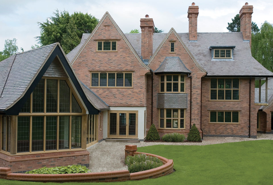 Bronze Windows in stone surrounds