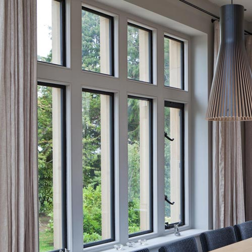 Eight Pane Metal Window With Open And Fixed Units